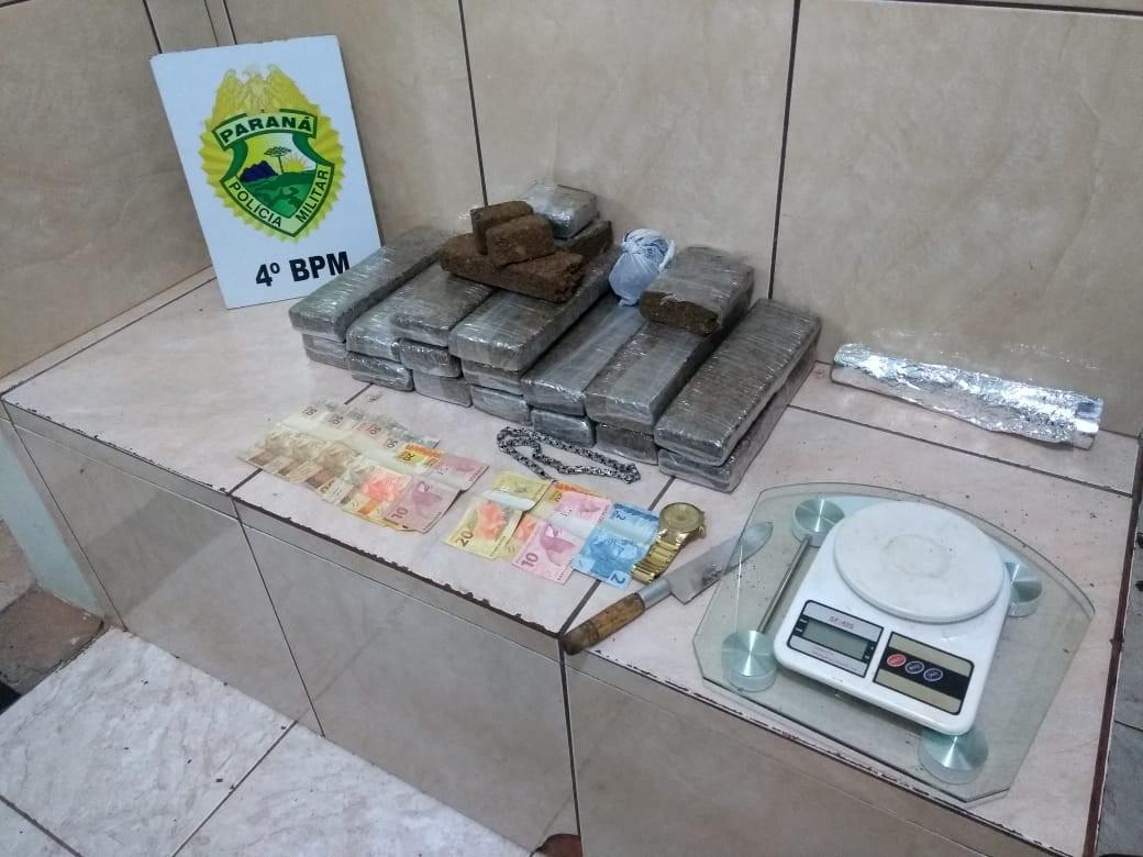 Homem é preso por receptação de carro roubado e tráfico de drogas