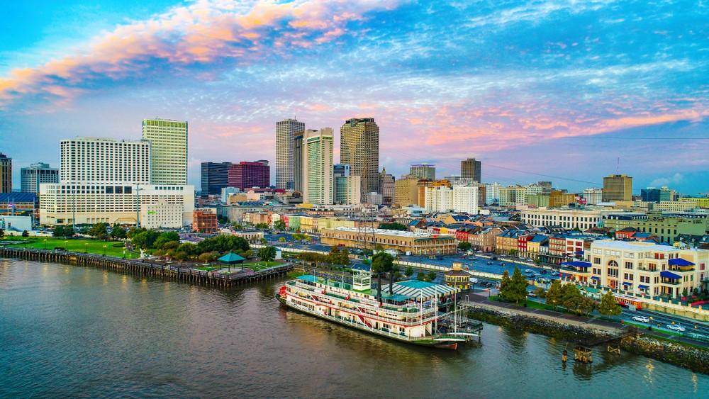 Cidades planejadas, como New Orleans