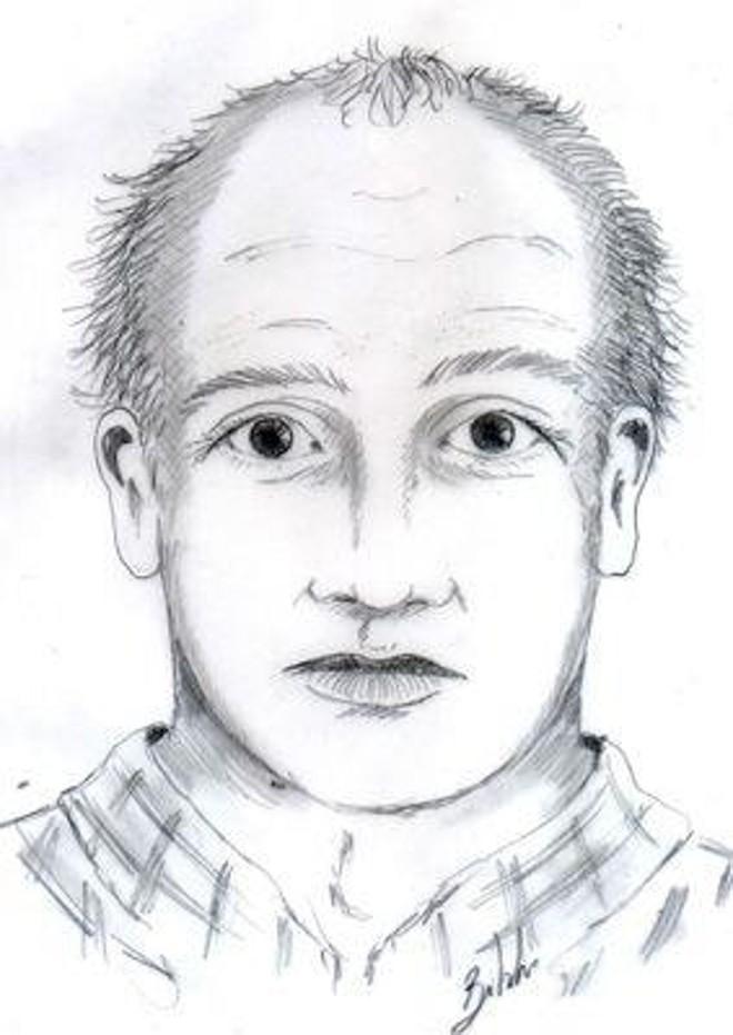 Retrato falado do assassino da menina Beatriz – Foto: Divulgação Polícia Civil PR