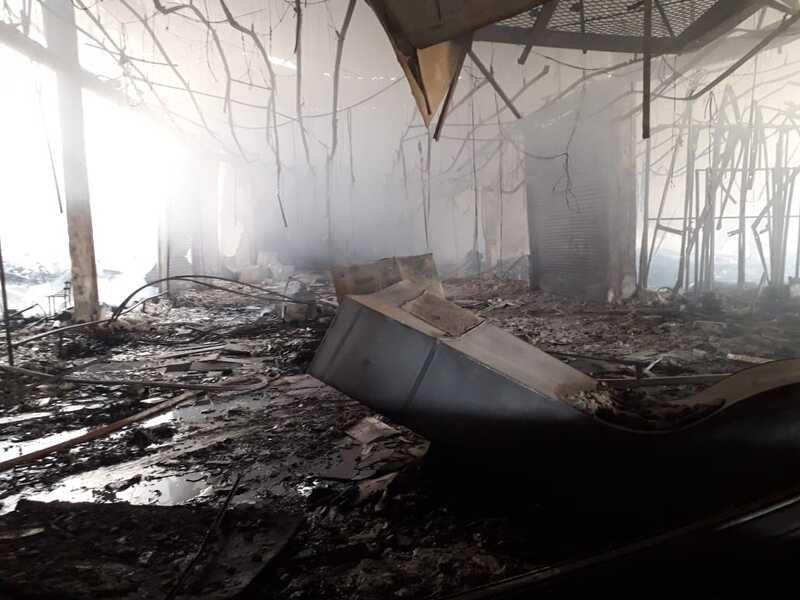 Fotos dos Bombeiros mostram a destruição causada pelo fogo – Foto: Bombeiros Maringá