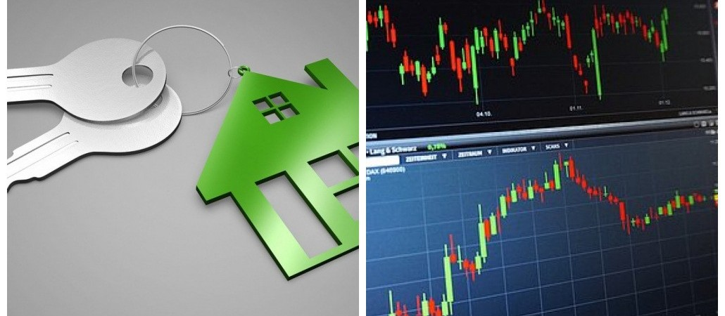 Investimentos em imóveis e ações