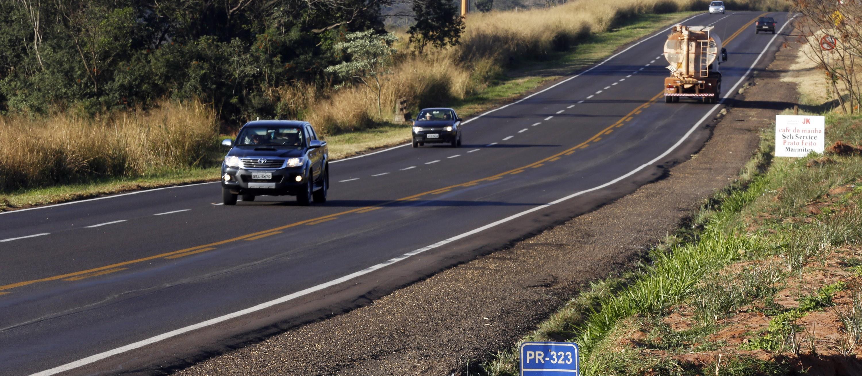 Falha na sinalização assusta motoristas na PR-323