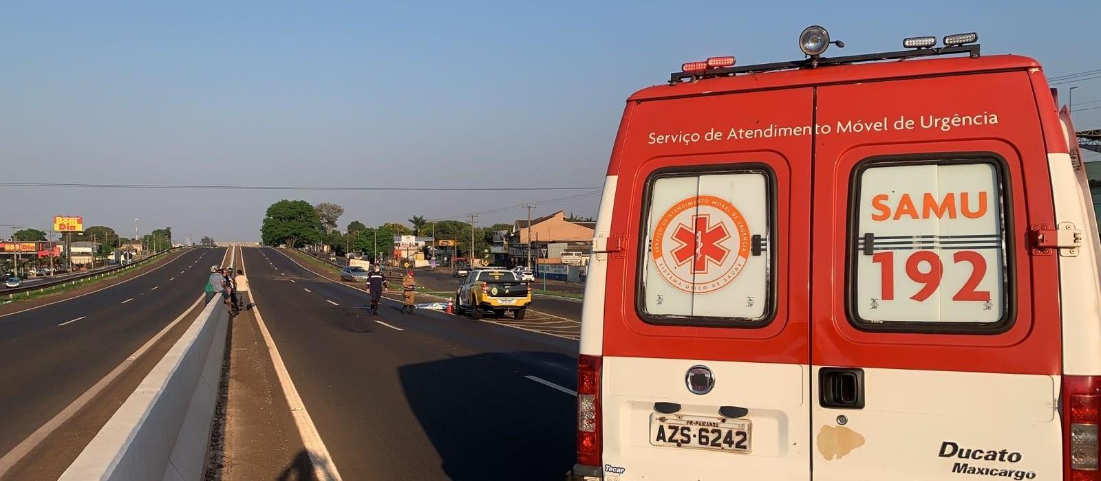 Jovem de 21 anos morre atropelada na PR-323, em Paiçandu