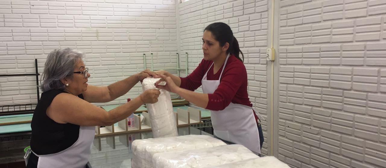 Primeira produção de fraldas está sendo distribuída