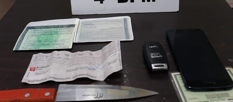 Após ser preso por roubar carro, casal é reconhecido por roubo a comércio