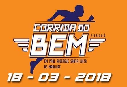 Corrida do Bem será no domingo (18)