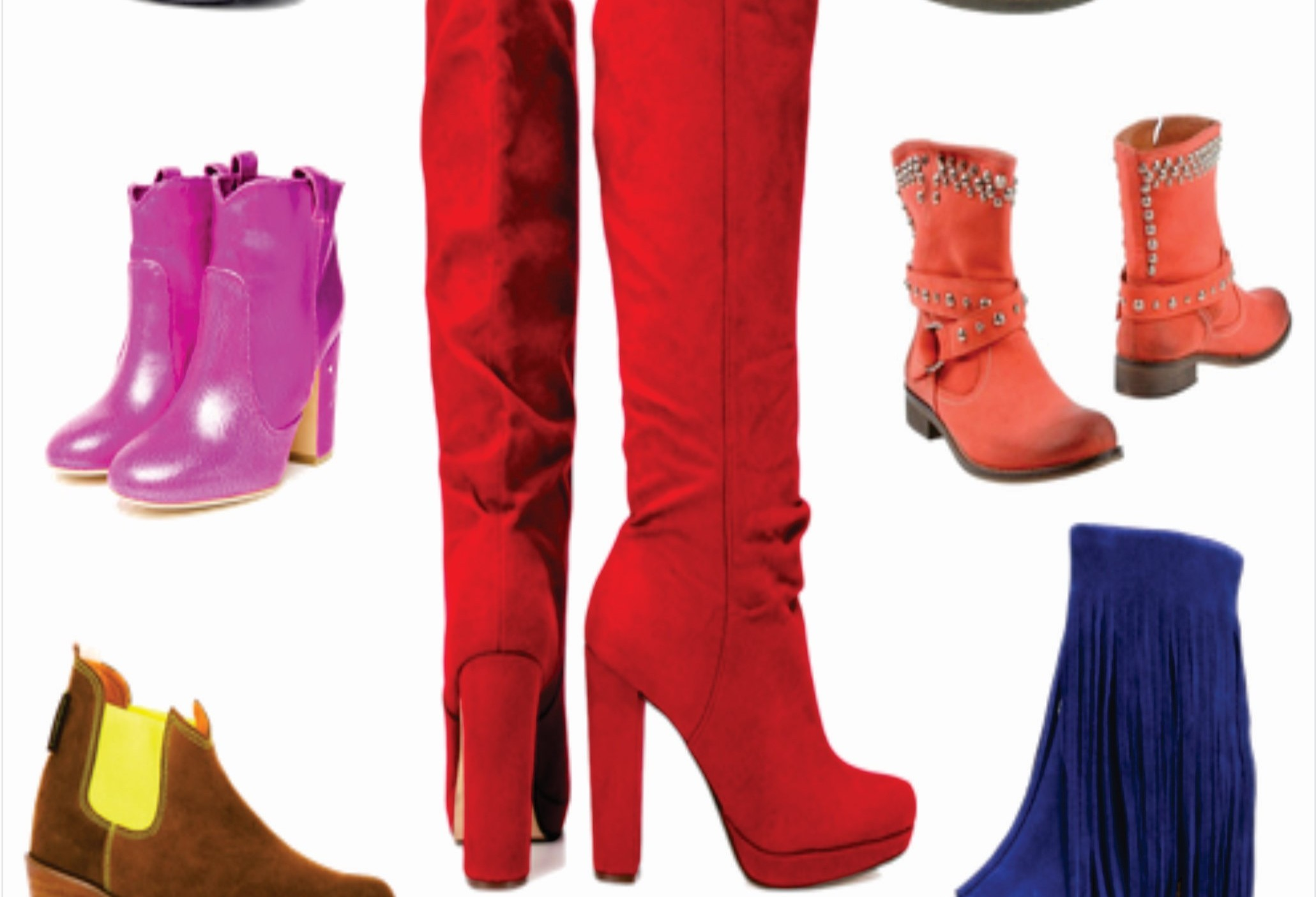 Sapatos coloridos estão em alta na coleção outono-inverno