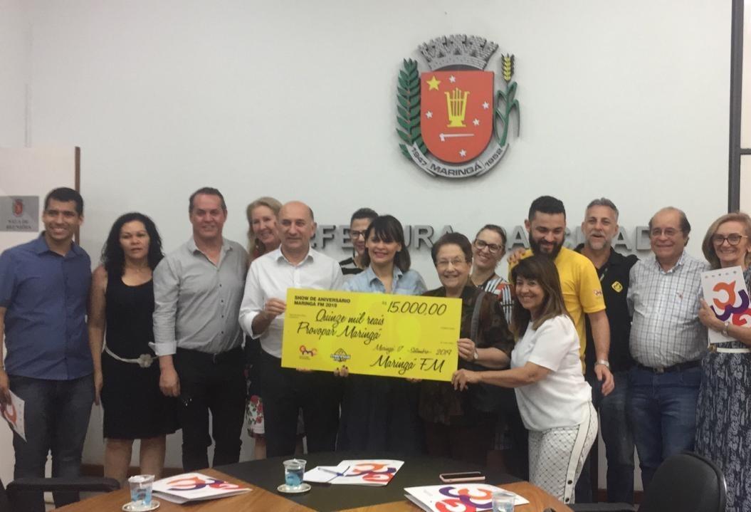 Maringá FM doa R$ 15 mil ao Provopar e outras três entidades