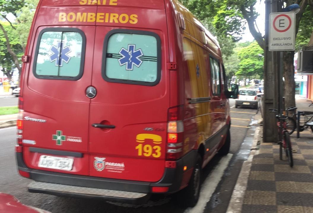 Ônibus atropela ciclista em Maringá