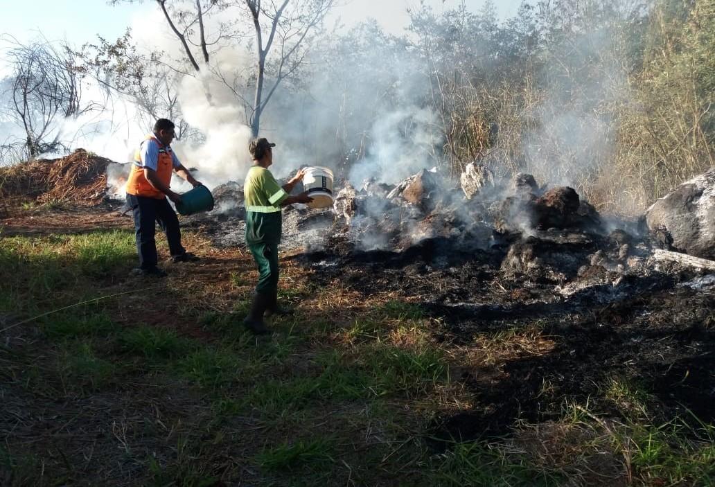 Incêndio em fundo de vale ocupa Corpo de Bombeiros por quatro horas