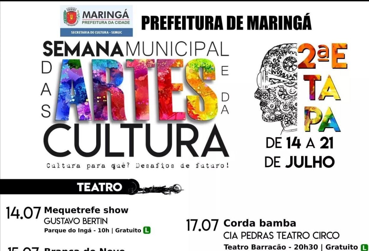 Semana das Artes e da Cultura começa no próximo domingo (14)