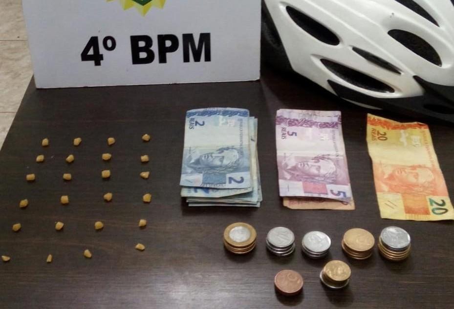 Ciclopatrulhamento apreende adolescente com drogas em Maringá