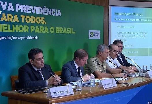Governo prevê economia de R$ 10,44 bilhões em dez anos com a reforma da previdência dos militares