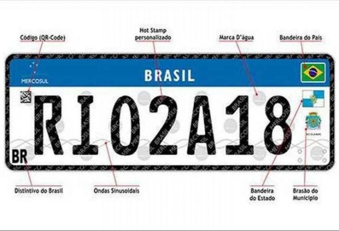 Novas placas do Mercosul deverão custar, em média, R$ 250