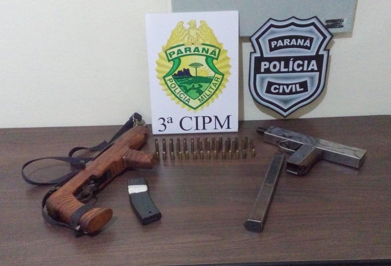 Suspeito de homicídio é preso com duas armas de fogo
