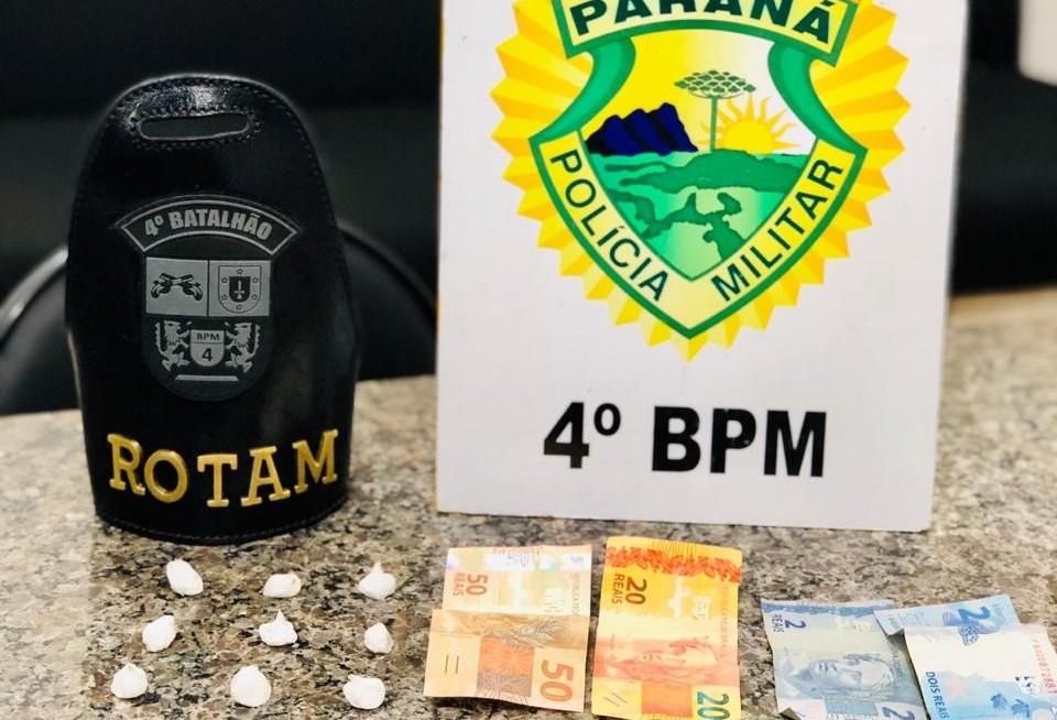 Polícia prende homem por tráfico de drogas no Conjunto Requião