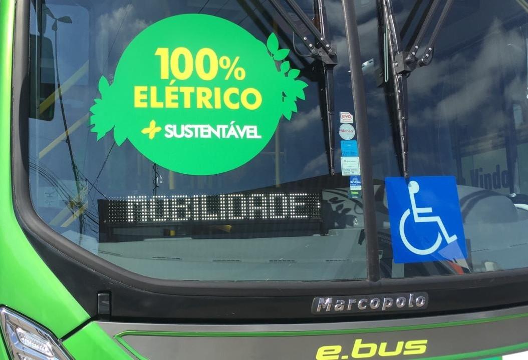 Empresa apresenta segundo ônibus elétrico