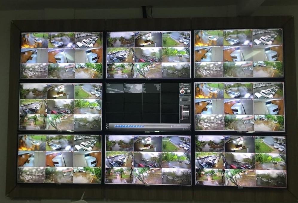 Começam os testes na central de monitoramento da UEM