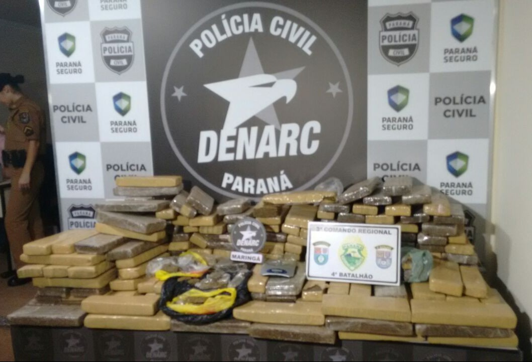 Denarc de Maringá apreende sete toneladas de maconha