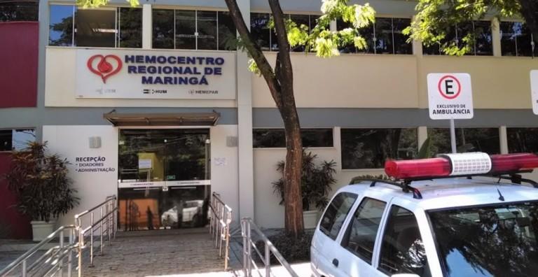 Com pandemia, doações de sangue caem 50% no Hemocentro de Maringá