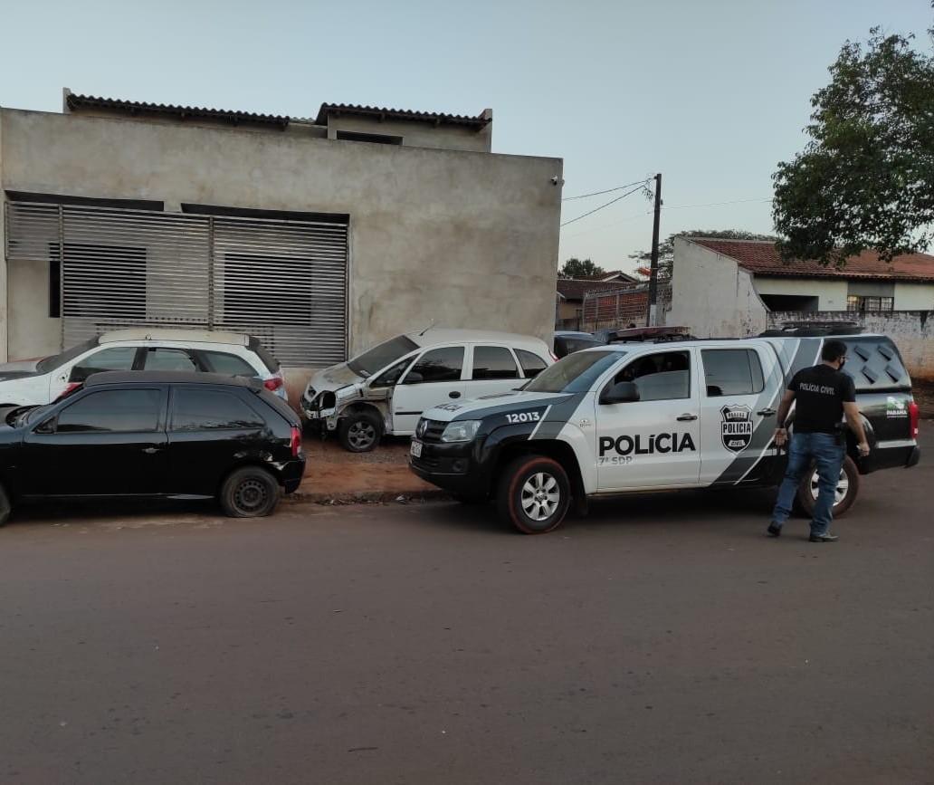 Presos integrantes de quadrilha que roubava e desmanchava carros em Campo Mourão