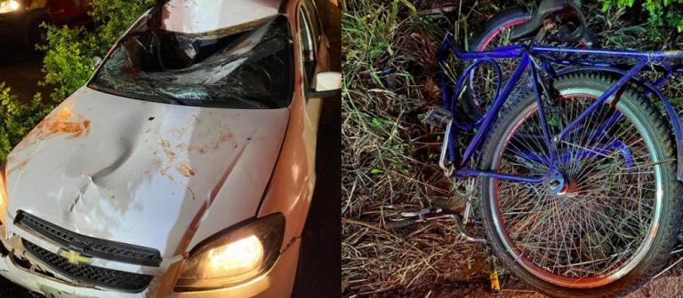 Ciclista é atingido por carro perto do Contorno Sul em Maringá
