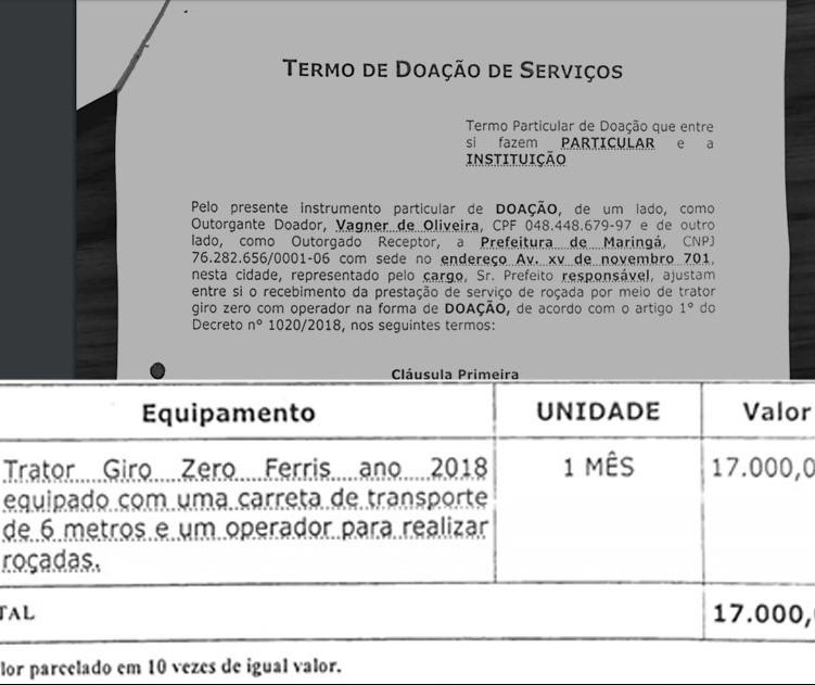 Secretário assume pagar serviço de roçada do próprio bolso em Maringá