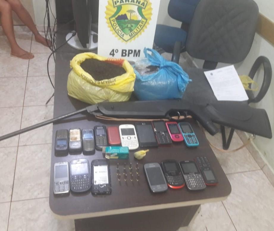 Mulher é presa com objetos que seriam arremessados para dentro da CCM de Maringá, diz PM