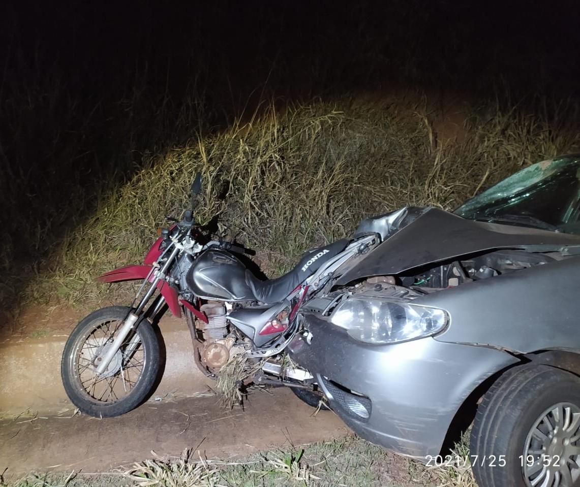 Motociclista morre em acidente na BR-487 em Tuneiras do Oeste