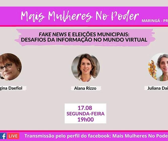 Alana Rizzo é convidada de live do movimento 'Mais Mulheres no Poder'