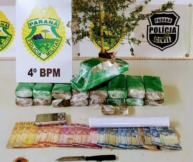 Oito pessoas são presas por tráfico de drogas em Maringá e Sarandi.