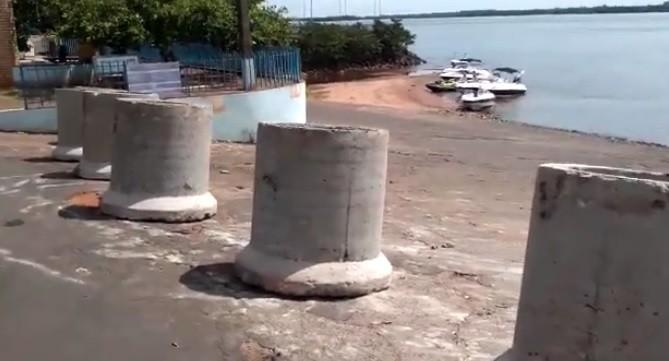 Vídeo divulgado pela Prefeitura de Porto Rico mostra o acesso às rampas náuticas interditado