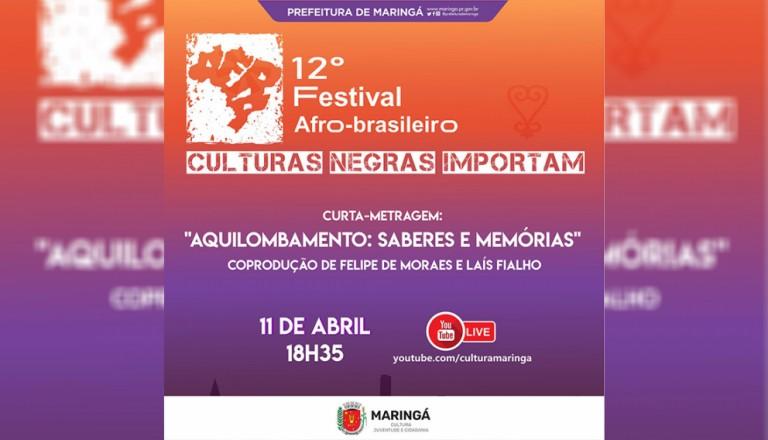 12º Festival Afro-brasileiro encerra com apresentações online no domingo (11)