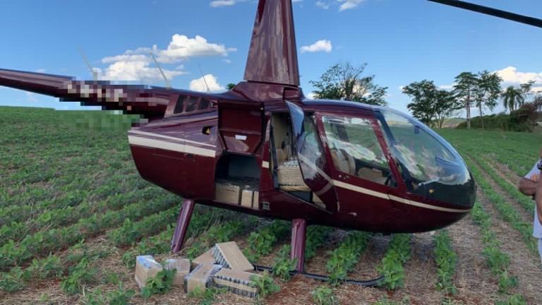 Polícia Federal apreende 430 kg de cocaína em helicóptero