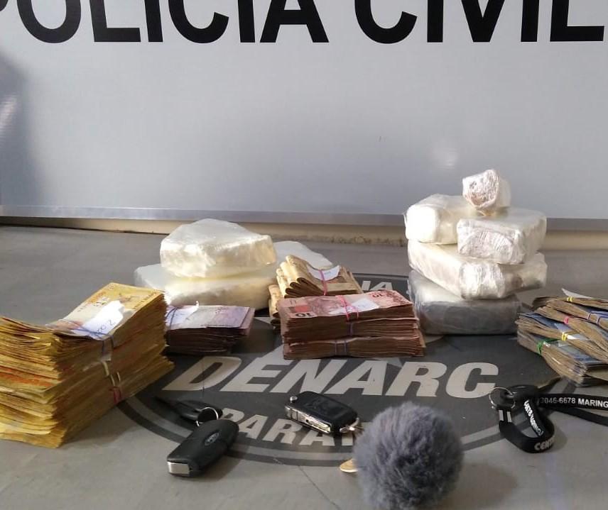 Denarc prende dupla suspeita de tráfico de drogas em Maringá