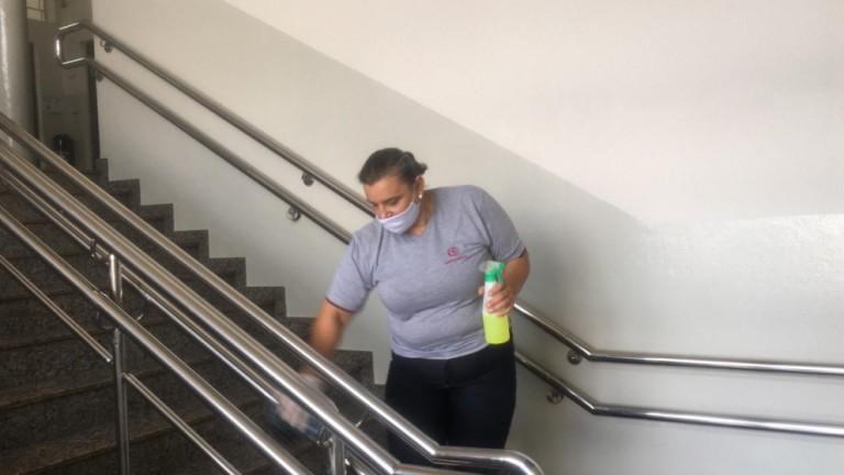 Higienização é rigorosa no Colégio Santo Inácio
