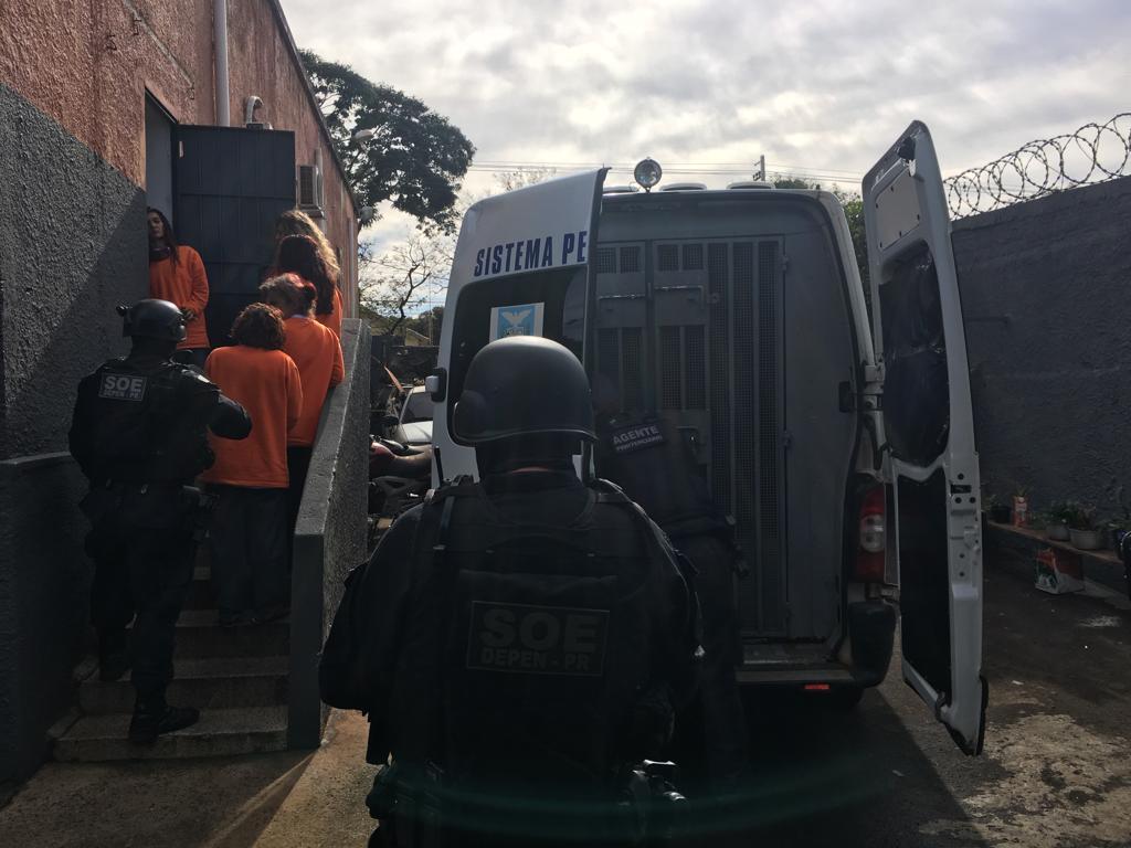 Presas chegando em Astorga. Foto: SOE