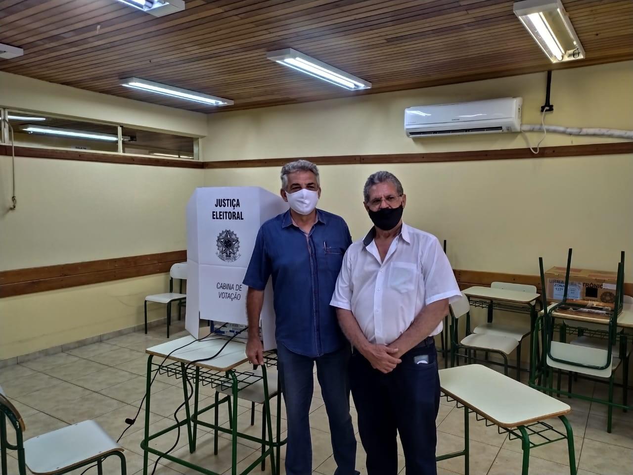 Candidato Valdir Pignata (Cidadania) (à esquerda) / foto: divulgação
