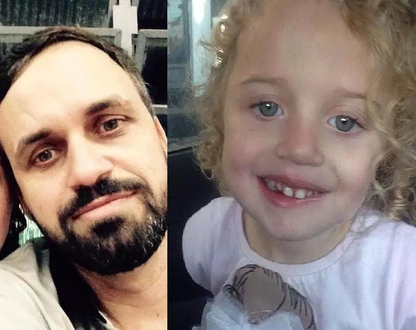 Os corpos de Adalberto Fernandes Galice, 42 anos, e Sophia Pacagnan Fernandes, 4 anos, foram resgatados no início da tarde desta quarta-feira (21) (Fotos: Reprodução Facebook)