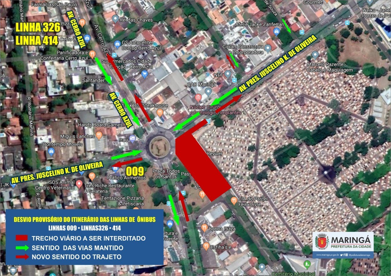 Trecho da avenida Juscelino Kubitschek  será interditado neste domingo (19)