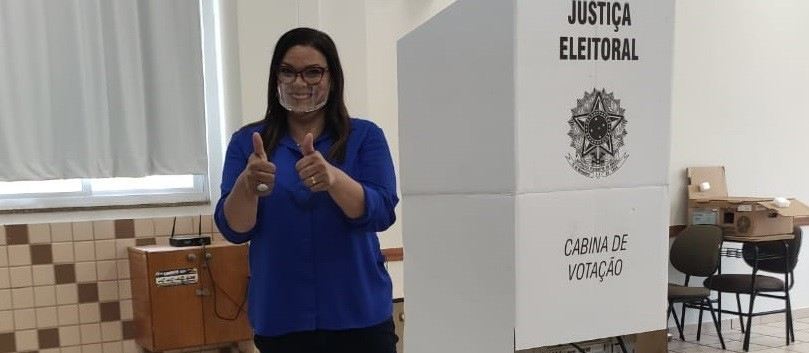 Candidata Coronel Audilene (PP) / foto: Victor Simião/CBN Maringá