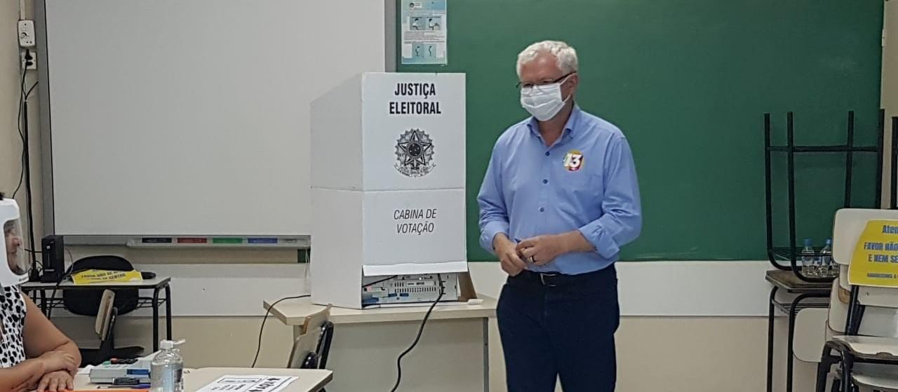 Candidato Carlos Mariucci (PT) / foto: Lethícia Conegero/GMC Online