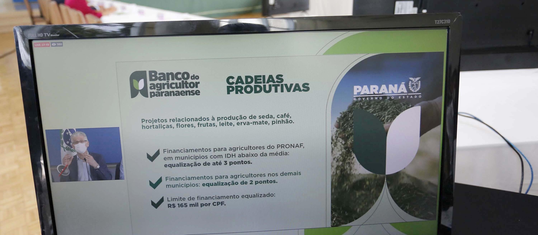 Paraná anuncia criação do Banco do Agricultor Paranaense