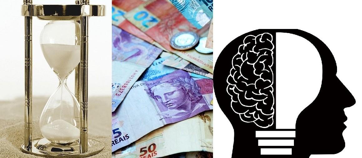 Um bom futuro financeiro depende de tempo, dinheiro e inteligência