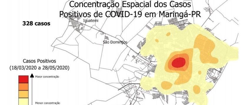 Casos positivos da Covid-19 estão em todas as regiões de Maringá