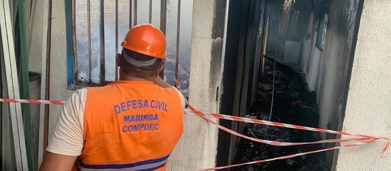 Incêndio destrói depósito de floricultura em Maringá