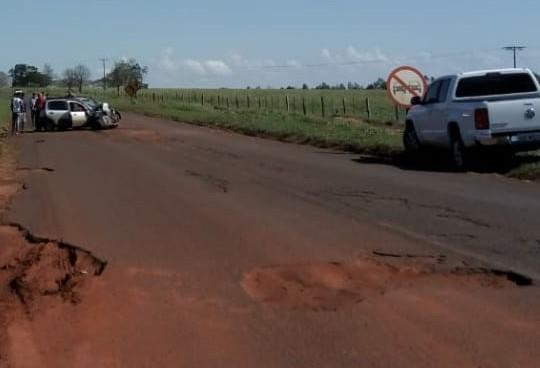 Comitiva da Cohapar sofre acidente em Querência do Norte