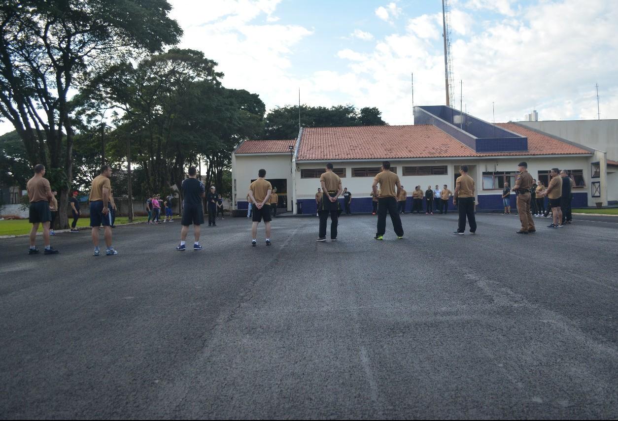 Pelotão de Serviços do 4º Batalhão da PM participou do Dia do Desafio