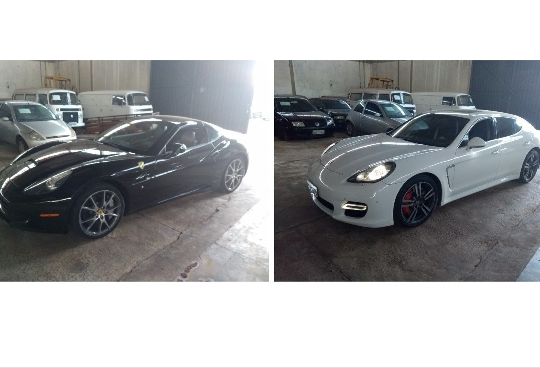 Leilão oferta Porsche e Ferrari