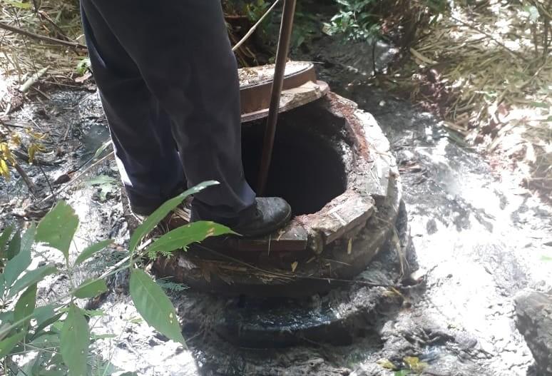 Sema encontra ponto de esgoto irregular da Sanepar em Maringá